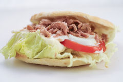 Tuna sandwich. Made with domestic bread, lettuce, Healthy eating Stock Photo