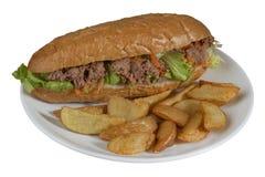 Tuna Sandwich Fotografie Stock Libere da Diritti