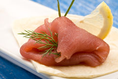 Tuna Sandwich Appetizer Royalty Free Stock Photo