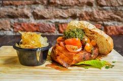 Tuna Sandwich com cebola Fotografia de Stock