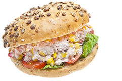 Tuna sandwich isolated Royalty Free Stock Images