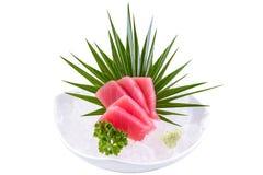Tuna sashimi. Japanese couisine - fresh raw tuna sashimi Royalty Free Stock Images