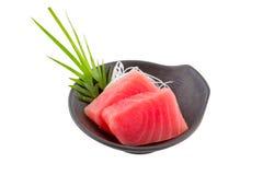 Tuna sashimi. Japanese couisine - fresh raw tuna sashimi  isolated on white background Stock Photography