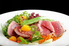 Tuna Sashimi - Maguro (fresh raw tuna) Royalty Free Stock Images