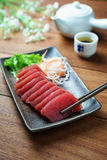 Tuna sashimi. Raw fish in traditional Japanese style stock photography