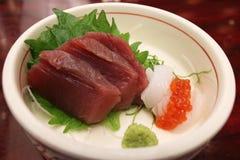 Tuna Sashimi Set Royalty-vrije Stock Afbeeldingen