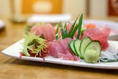 Tuna sashimi with Wasabi Royalty Free Stock Photography