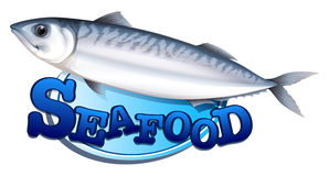 Tuna and seafood sign Stock Images