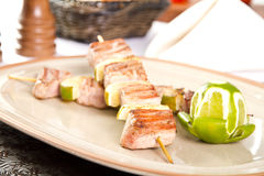 Tuna skewers Stock Image