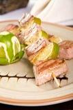 Tuna skewers Royalty Free Stock Image