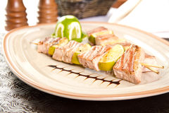 Tuna skewers Royalty Free Stock Photography