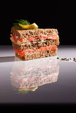 A tuna smoked salmon sandwich Royalty Free Stock Images