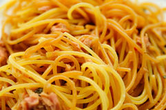 Tuna Spaghetti 2 Stock Photos