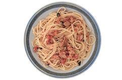 Tuna spaghetti Stock Image