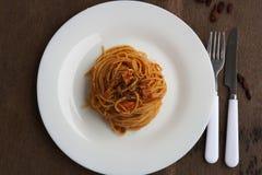 Tuna Spaghetti royalty-vrije stock foto