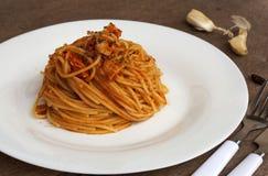 Tuna Spaghetti royalty-vrije stock afbeelding