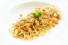 Tuna Spaghetti Foto de archivo libre de regalías