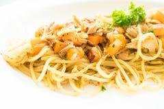 Tuna Spaghetti Imágenes de archivo libres de regalías