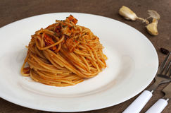 Tuna Spaghetti Royalty Free Stock Image