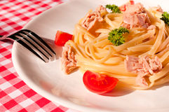 Tuna spaghetti Stock Photo