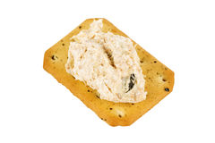 Tuna spread biscuit Stock Images