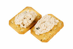 Tuna spread biscuit Stock Photography
