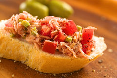 Tuna Spread on Bread Stock Images