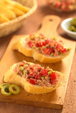 Tuna Spread on Bread Royalty Free Stock Image