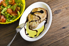 Tuna steack cooked Stock Images