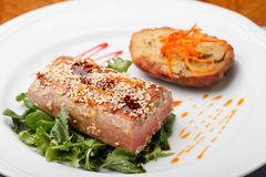 Tuna steak Royalty Free Stock Photos