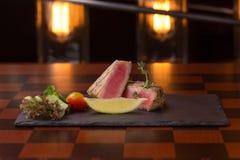 Tuna Steak Foto de archivo libre de regalías