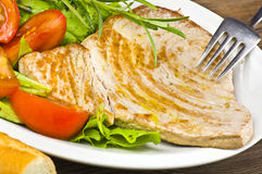 Tuna steak cooked Royalty Free Stock Photography