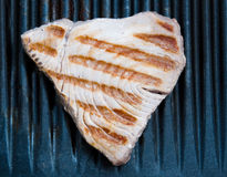Tuna Steak Cooking On A Grill Stock Photo