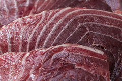 Tuna steak. Image of three tuna steaks Royalty Free Stock Photos