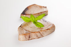 Tuna steak prepared whith vegetables Stock Photography