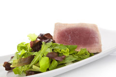 Tuna steak with salad. Stock Photography