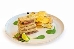 Tuna steak sandwich Royalty Free Stock Photos