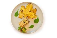 Tuna steak sandwich Royalty Free Stock Photography
