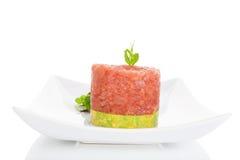 Tuna steak tartare. Royalty Free Stock Photography