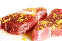 Tuna steaks Royalty Free Stock Photo