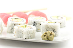 Tuna Sushi California Roll Royalty Free Stock Images