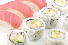 Tuna Sushi California Roll Stock Photo