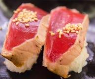 Tuna Sushi chamuscada Foto de archivo libre de regalías