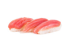 Tuna sushi isolated on white Royalty Free Stock Image