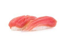 Tuna sushi isolated on white Royalty Free Stock Photos