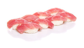 Tuna sushi nigiri isolated Royalty Free Stock Photography