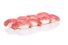 Tuna sushi nigiri isolated Royalty Free Stock Images