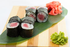Tuna sushi roll Royalty Free Stock Photography