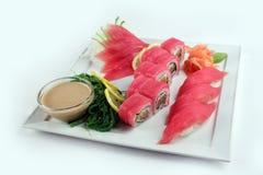 Tuna sushi set Stock Photo