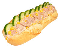 Tuna And Sweet Corn Baguette Sandwich Royalty Free Stock Images